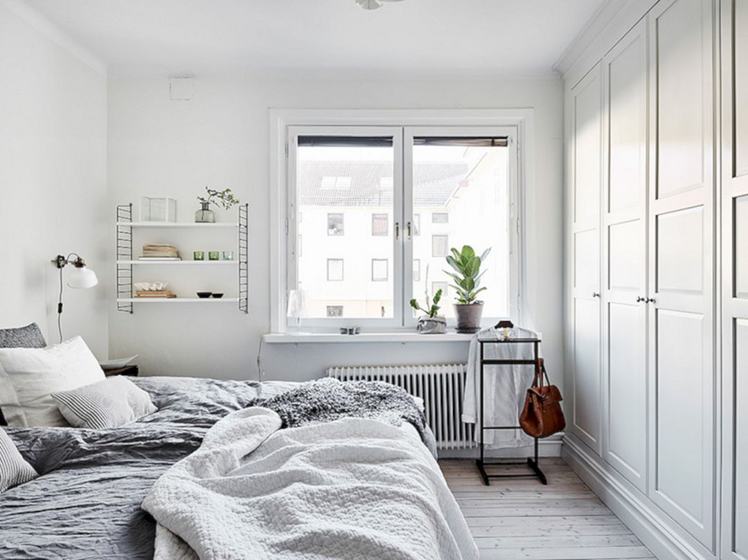 Scandinavian bedroom - white closet
