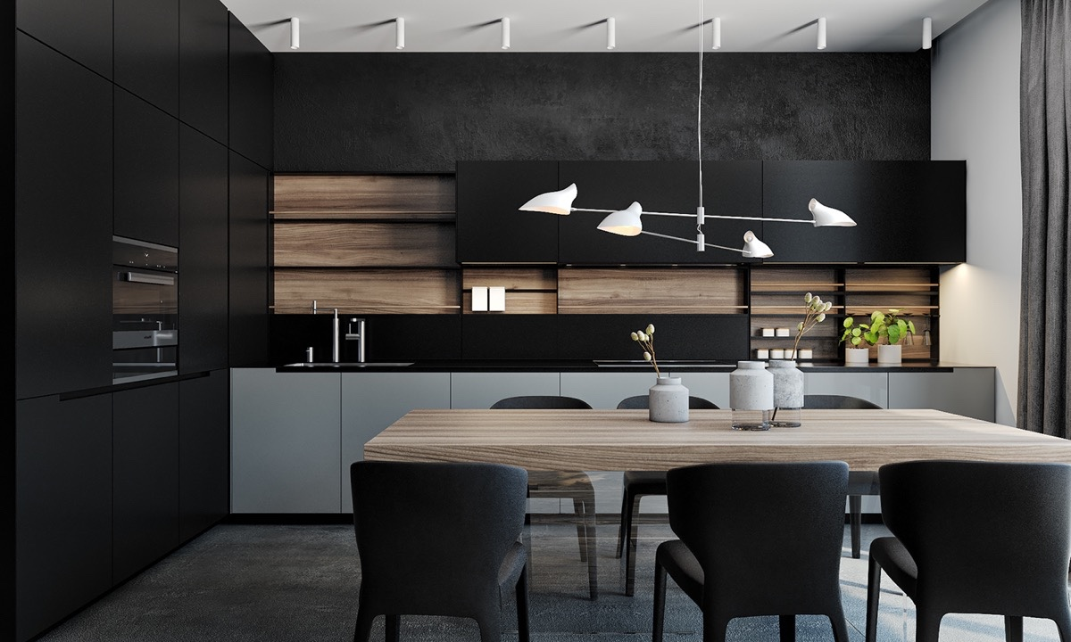 A black and wood kitchen - the hottest trend of 2021