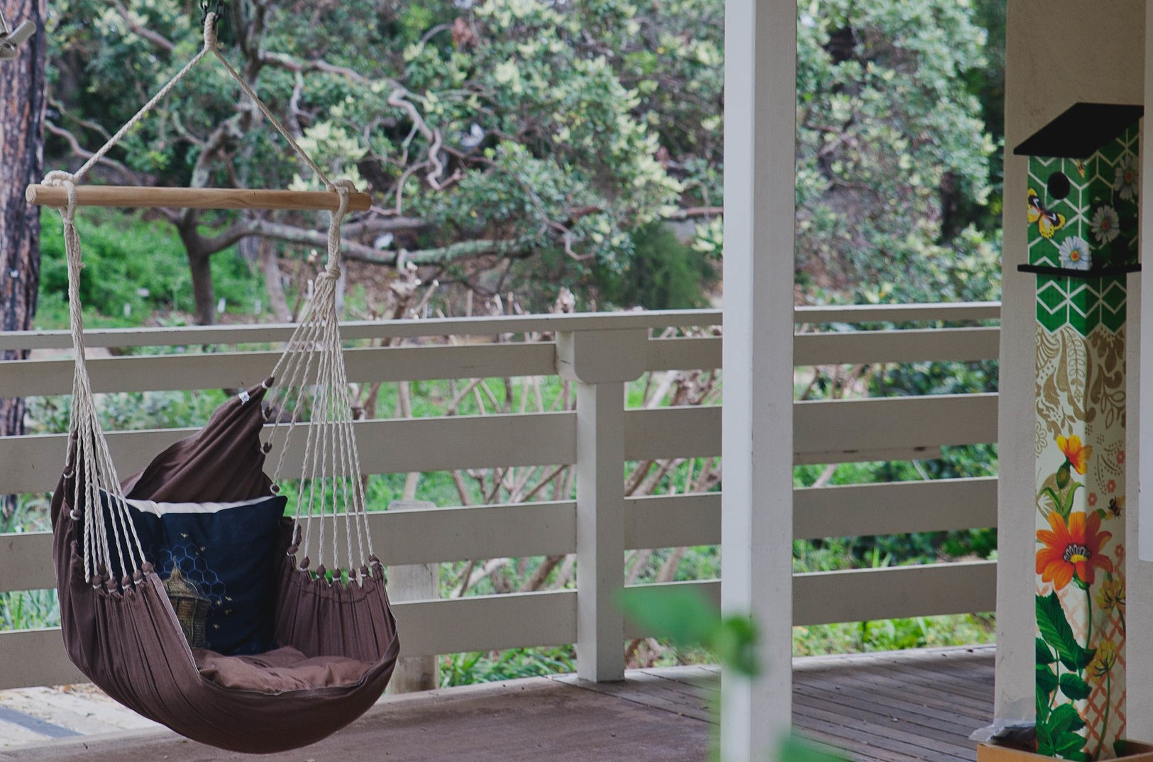 A swing - a perfect small balcony idea
