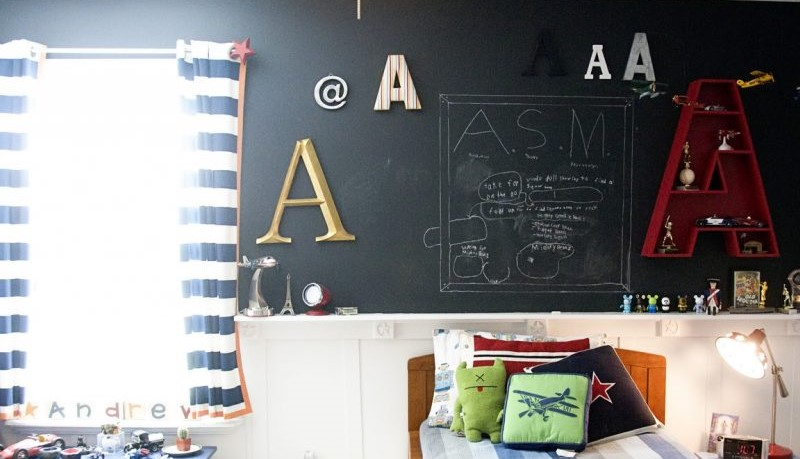 Magnetic chalkboard paint - ideal for children's room