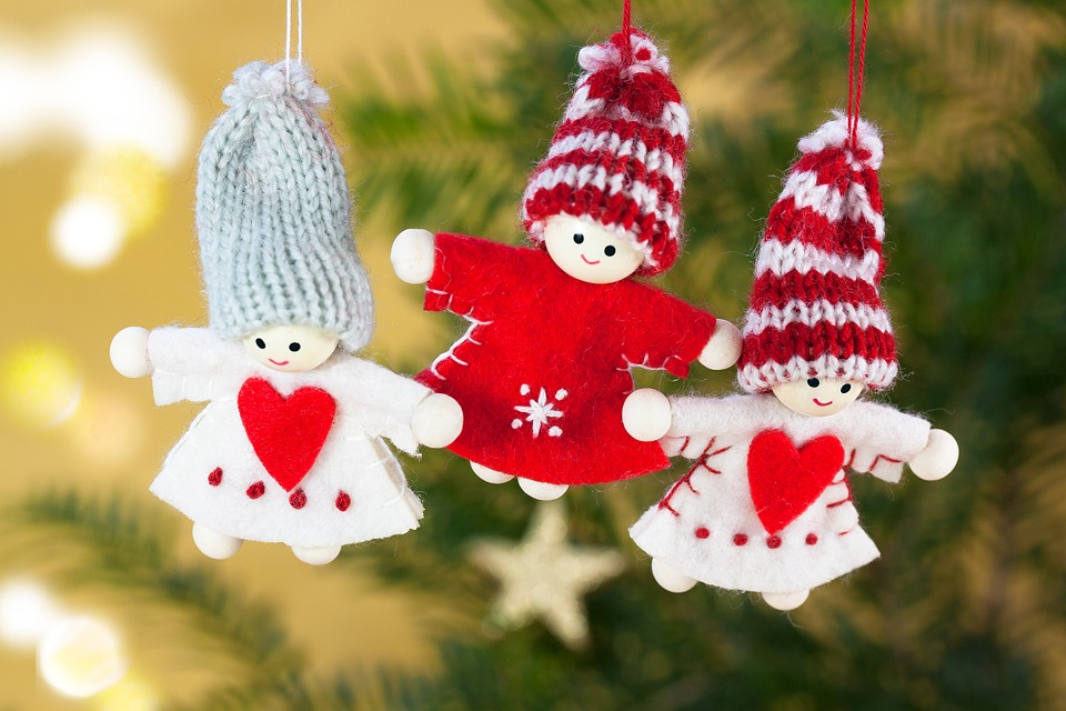 Cute Christmas ornaments - felt gnomes