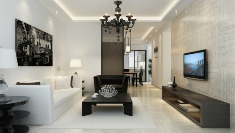 Living room lighting - glamour style