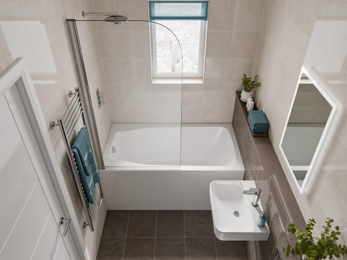 Winzige Badewanne im Badezimmer   20 Charmante Ideen für kleine ...