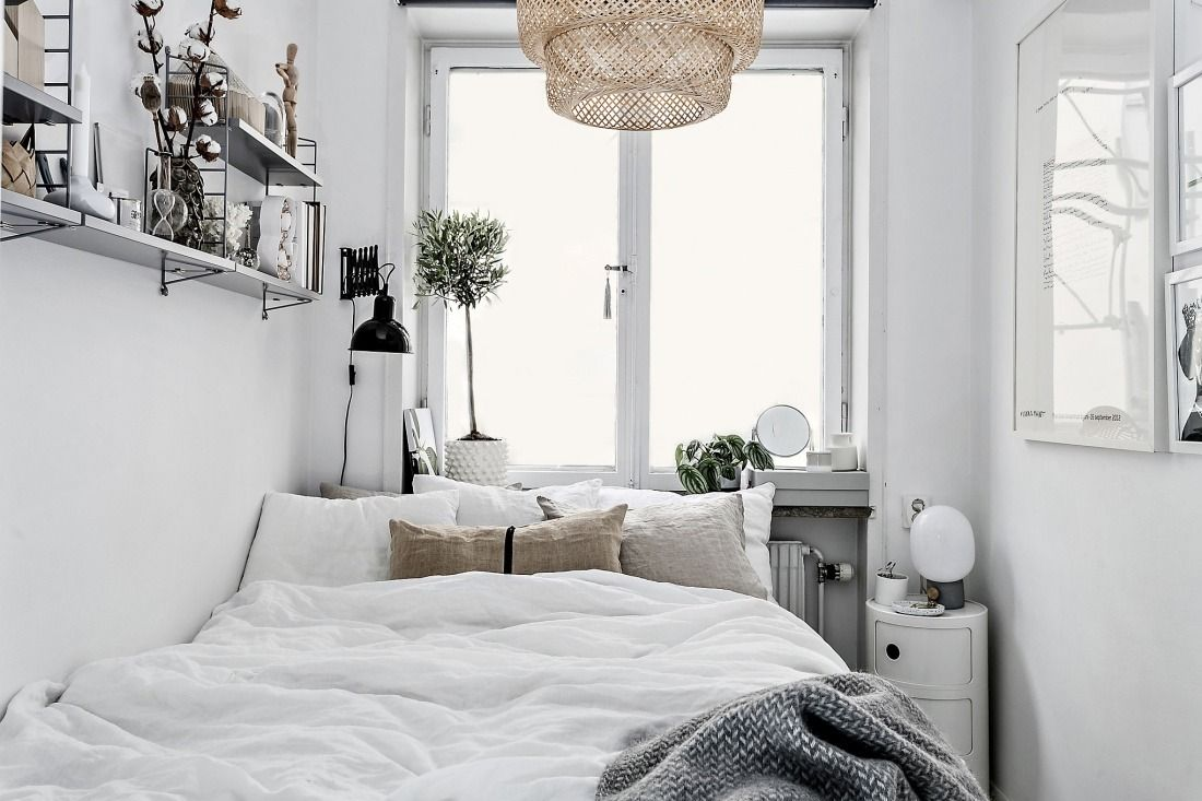 White Scandinavian bedroom - a bright and clear interior
