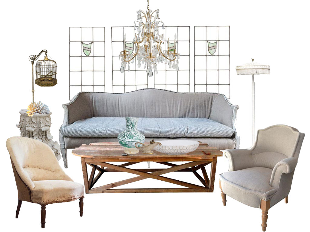 What is the best furniture for a shabby chic living room?