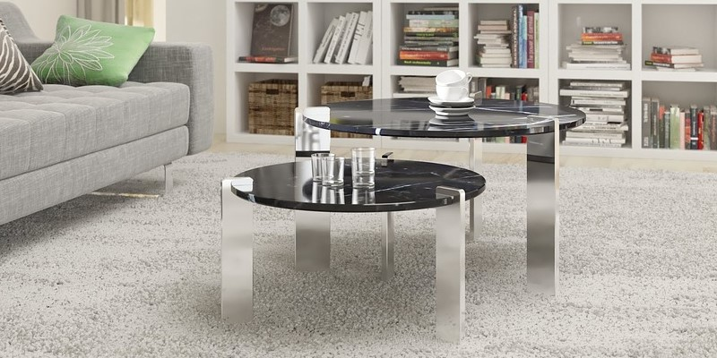 Tables basses gris anthracite