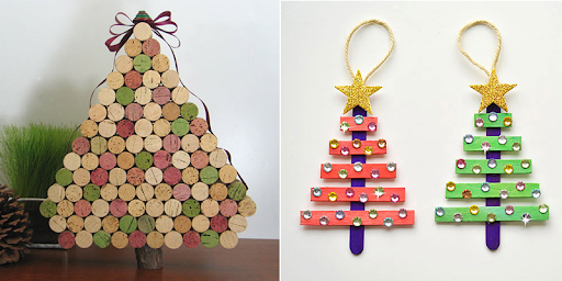 Traditional Christmas ornaments - creative Christmas trees