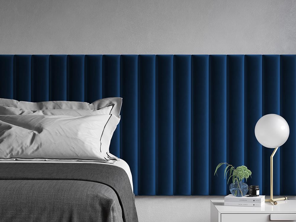 Мягкие стеновые панели в виде декоративной планки