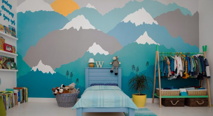 Boy bedroom - mountains