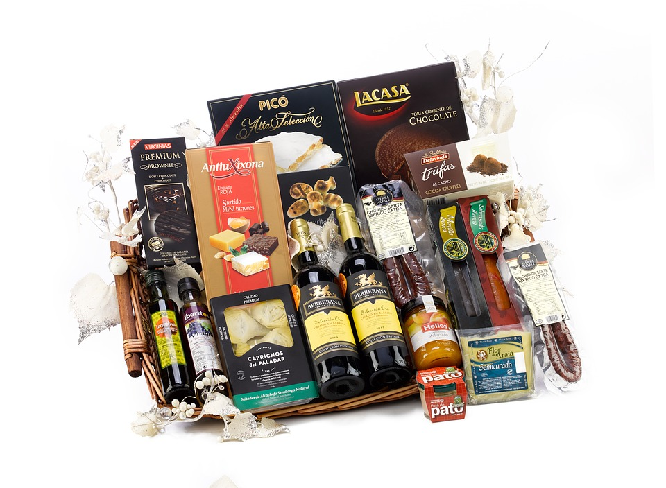 A gift basket with favourite products