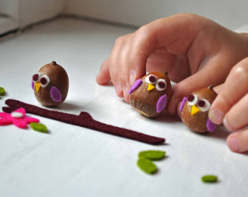 Acorns - fall crafts for children