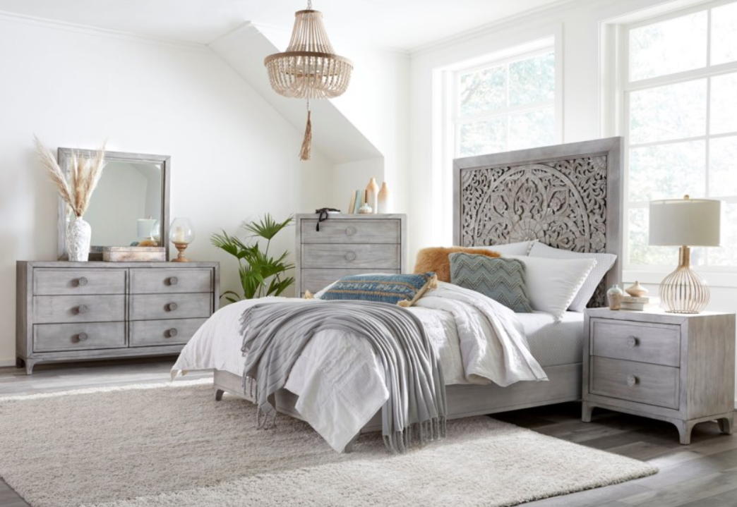 Pastel colors in the bedroom - it's trendy!