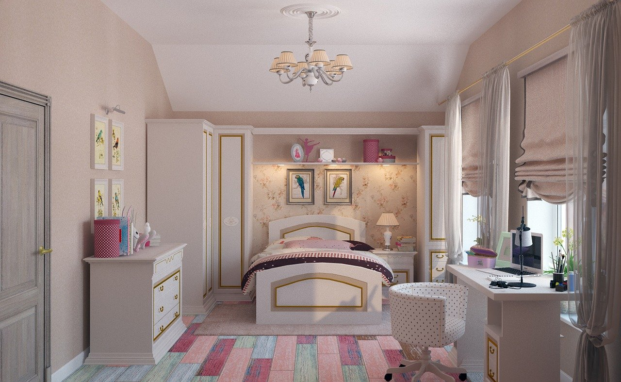 Pastel teen bedroom