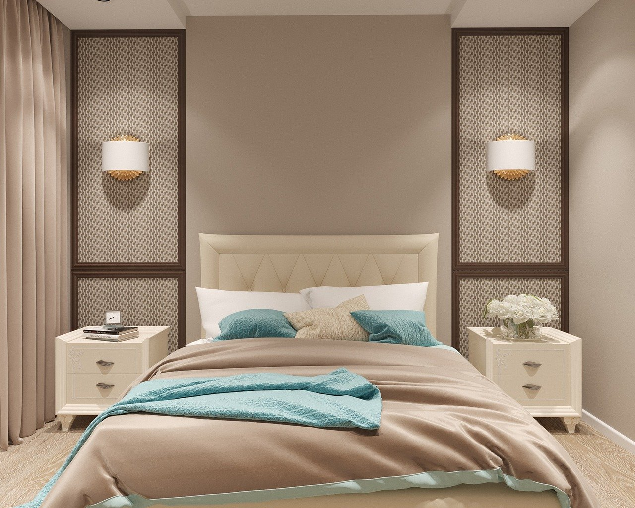 Bedroom pastel colors