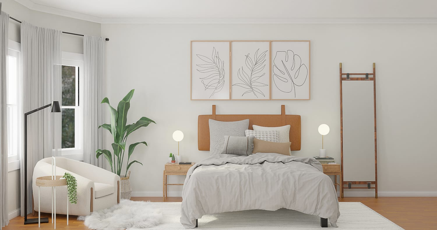 Scandi style bedrooms - wooden accessories