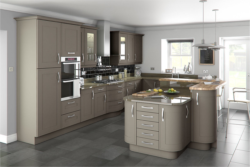 Grey kitchen with various shades