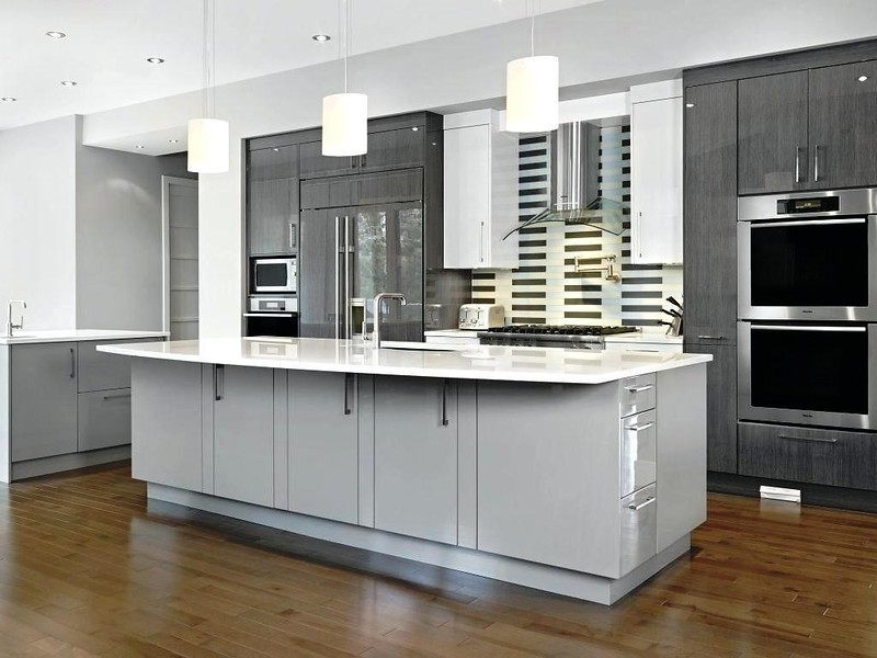 A modern grey kitchen