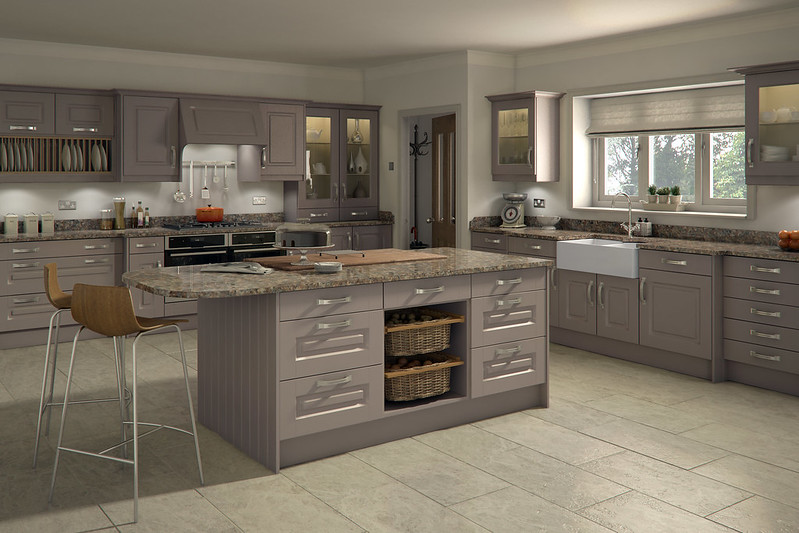 Warm grey kitchen