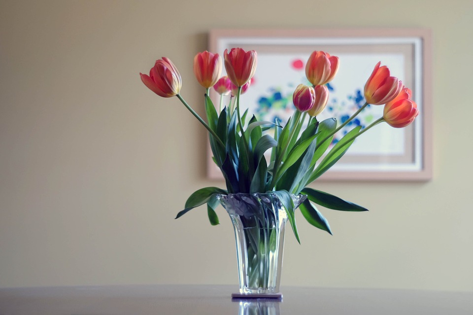 Ideas de decoración de primavera con tulipanes